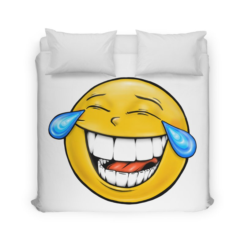 Crying Laughing Emoji Home Duvet by Stiky Shop