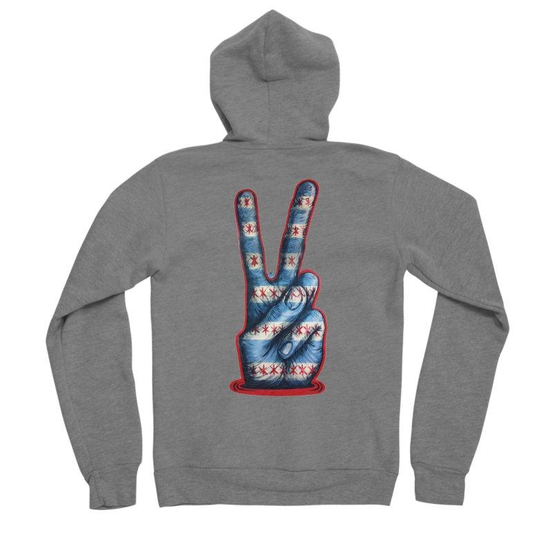 Vote for Peace Women's Sponge Fleece Zip-Up Hoody by Stiky Shop