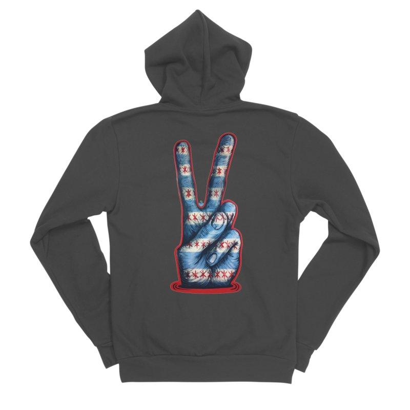 Vote for Peace Men's Sponge Fleece Zip-Up Hoody by IDC Art House