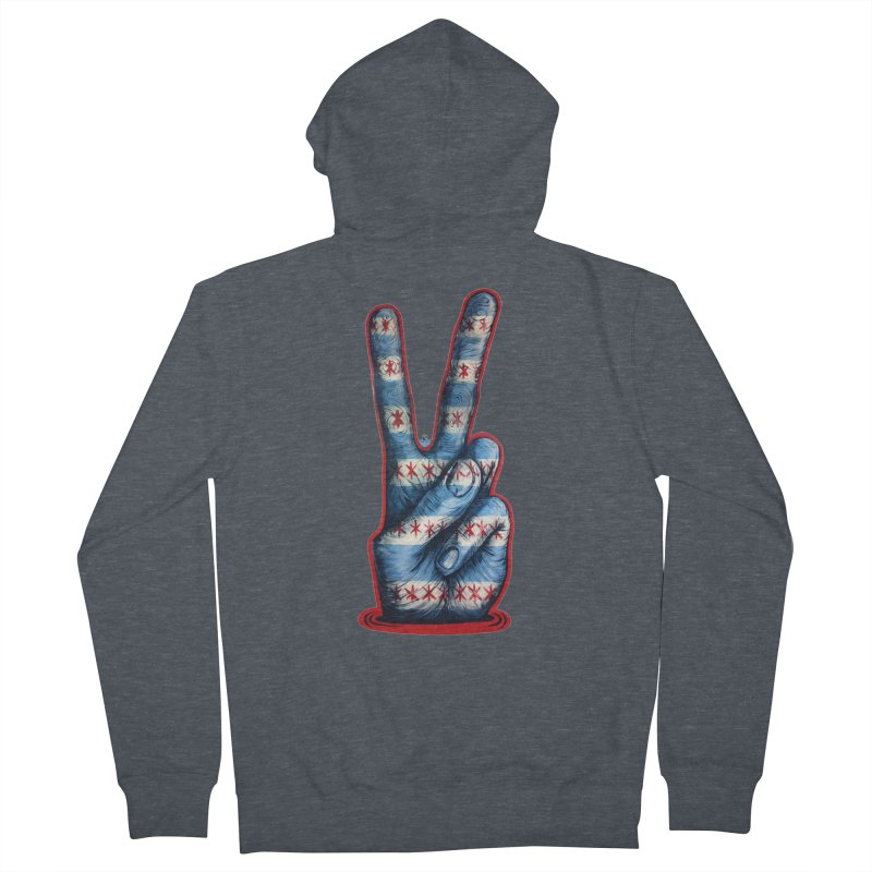 Vote for Peace Men's French Terry Zip-Up Hoody by IDC Art House
