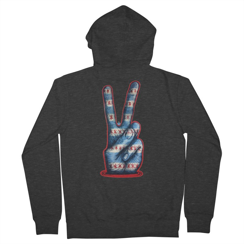 Vote for Peace Men's French Terry Zip-Up Hoody by Stiky Shop