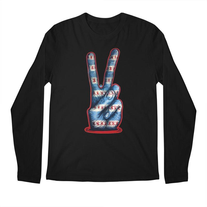Vote for Peace Men's Regular Longsleeve T-Shirt by IDC Art House