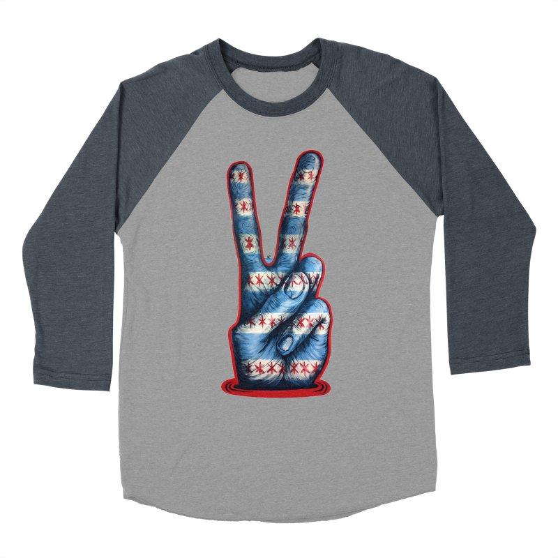 Vote for Peace Women's Baseball Triblend Longsleeve T-Shirt by Stiky Shop