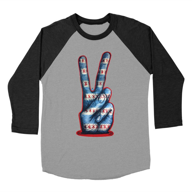 Vote for Peace Men's Baseball Triblend Longsleeve T-Shirt by Stiky Shop
