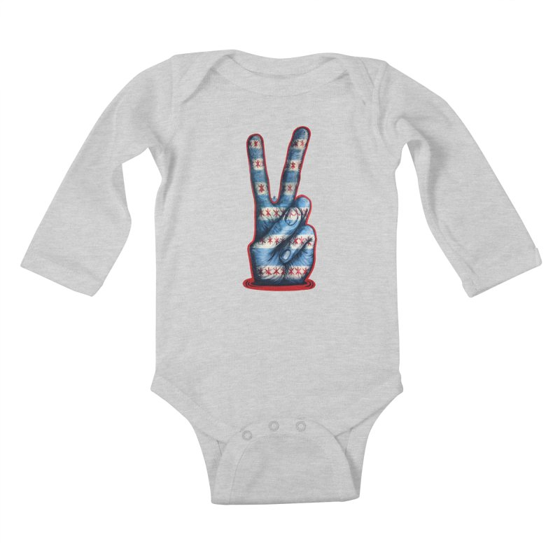 Vote for Peace Kids Baby Longsleeve Bodysuit by Stiky Shop