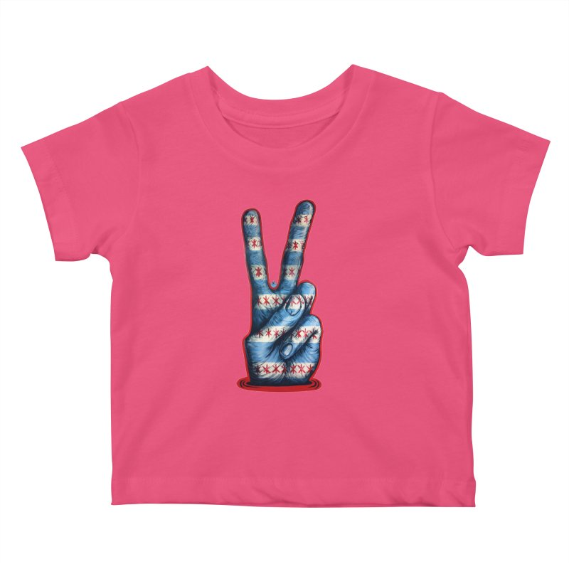 Vote for Peace Kids Baby T-Shirt by Stiky Shop