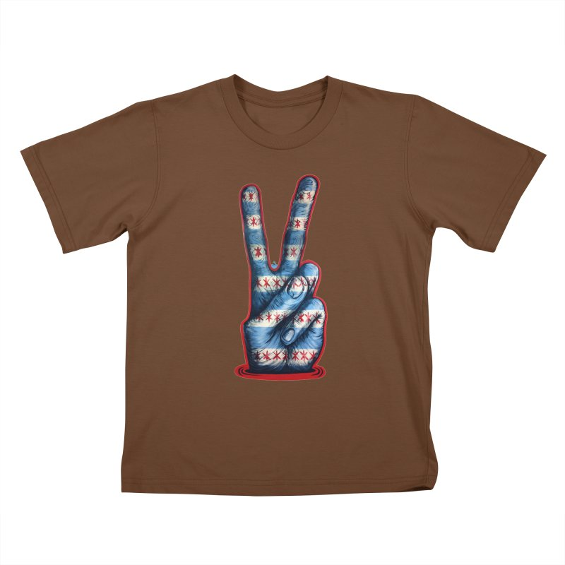Vote for Peace Kids T-Shirt by IDC Art House