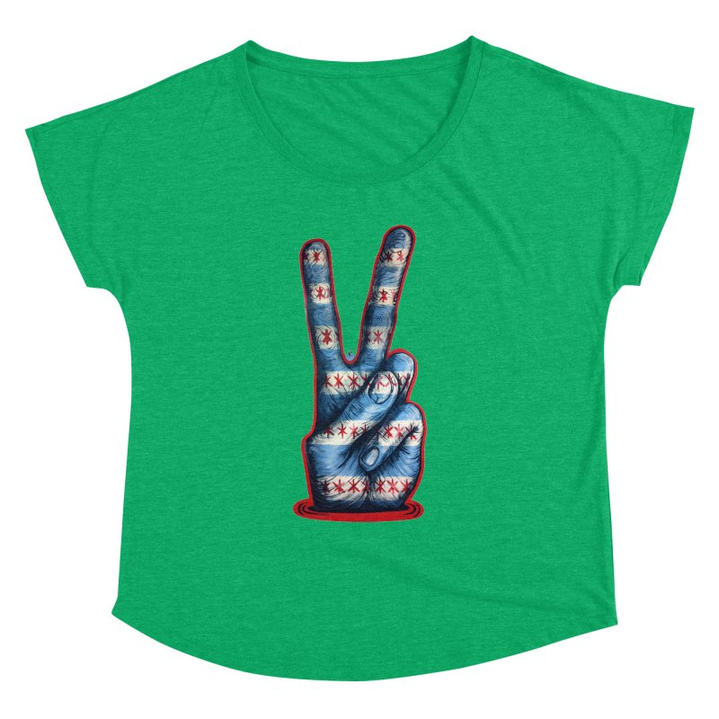 Vote for Peace Women's Dolman Scoop Neck by IDC Art House