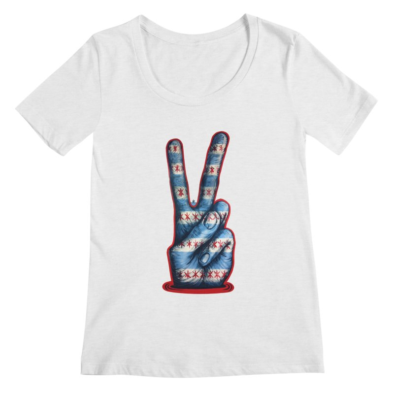 Vote for Peace Women's Regular Scoop Neck by Stiky Shop