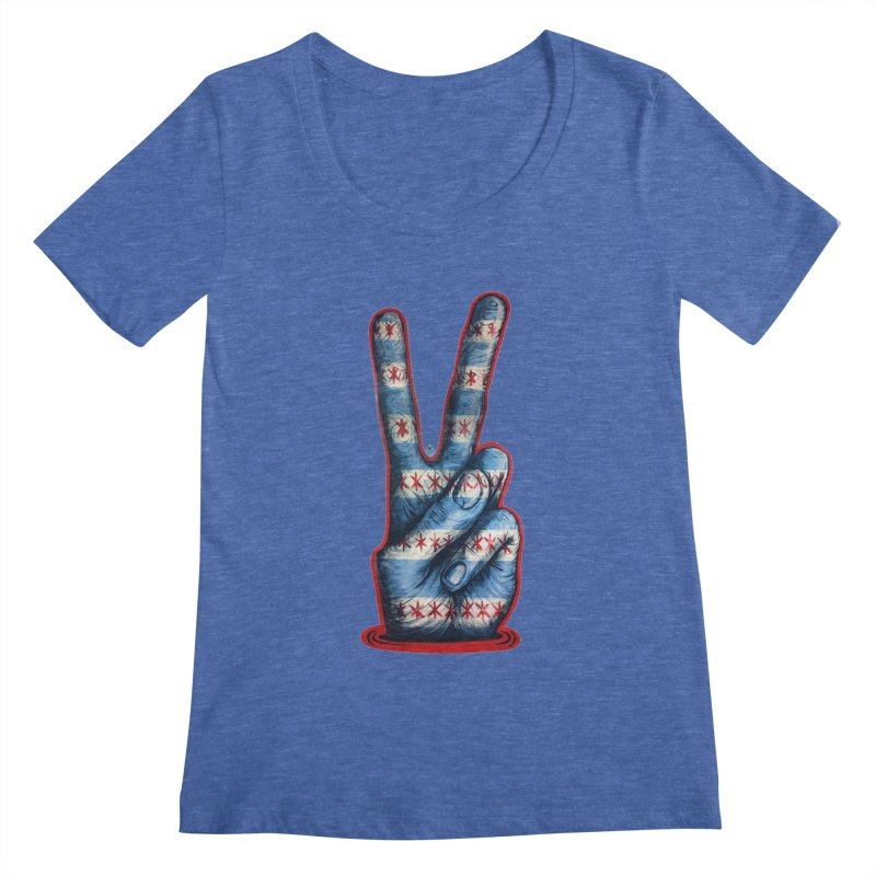 Vote for Peace Women's Regular Scoop Neck by IDC Art House
