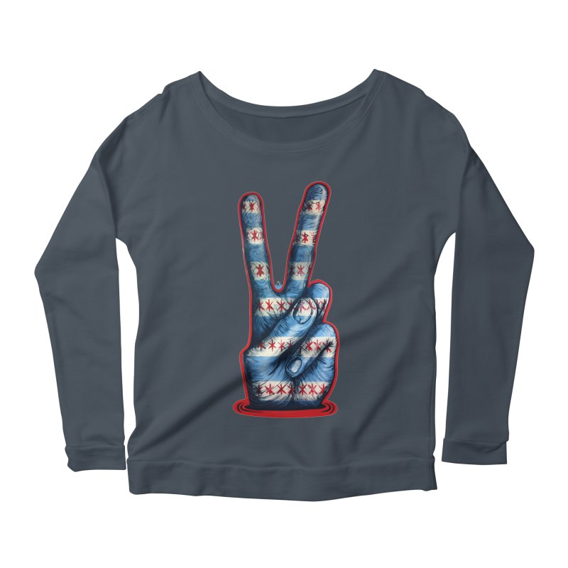 Vote for Peace Women's Scoop Neck Longsleeve T-Shirt by Stiky Shop