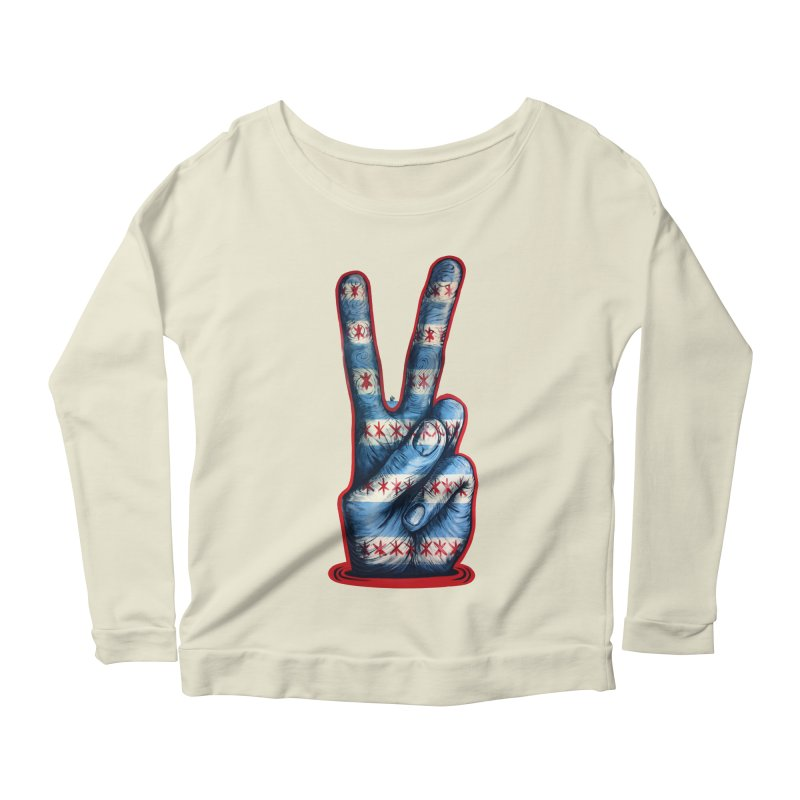 Vote for Peace Women's Scoop Neck Longsleeve T-Shirt by IDC Art House