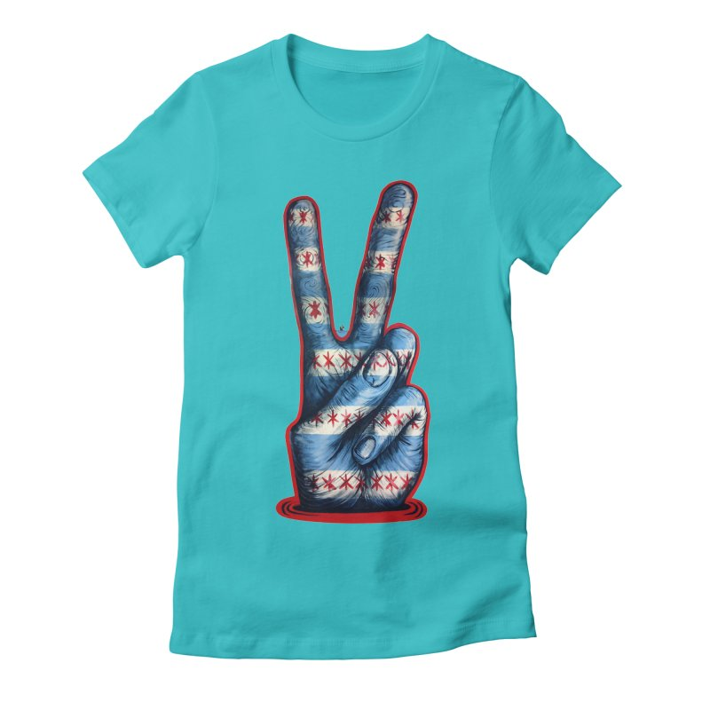 Vote for Peace Women's Fitted T-Shirt by Stiky Shop