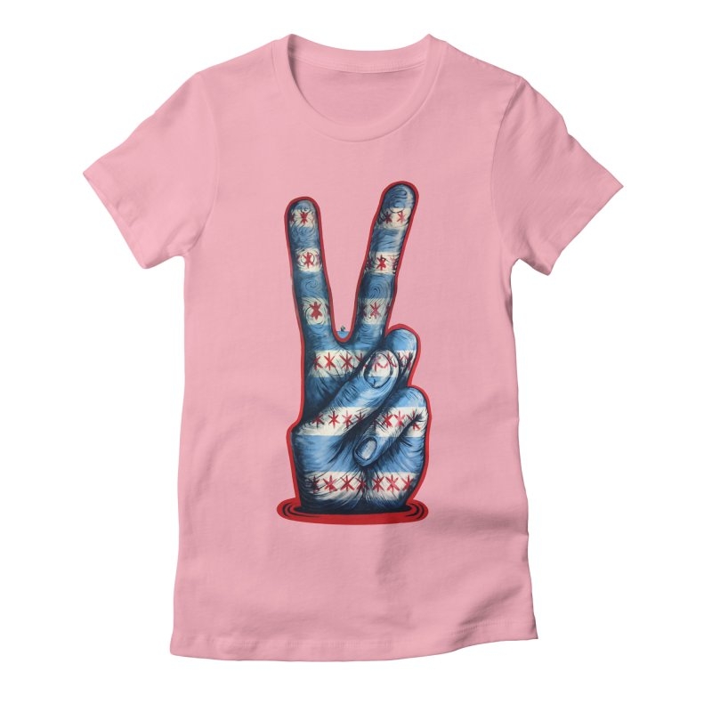 Vote for Peace Women's Fitted T-Shirt by IDC Art House