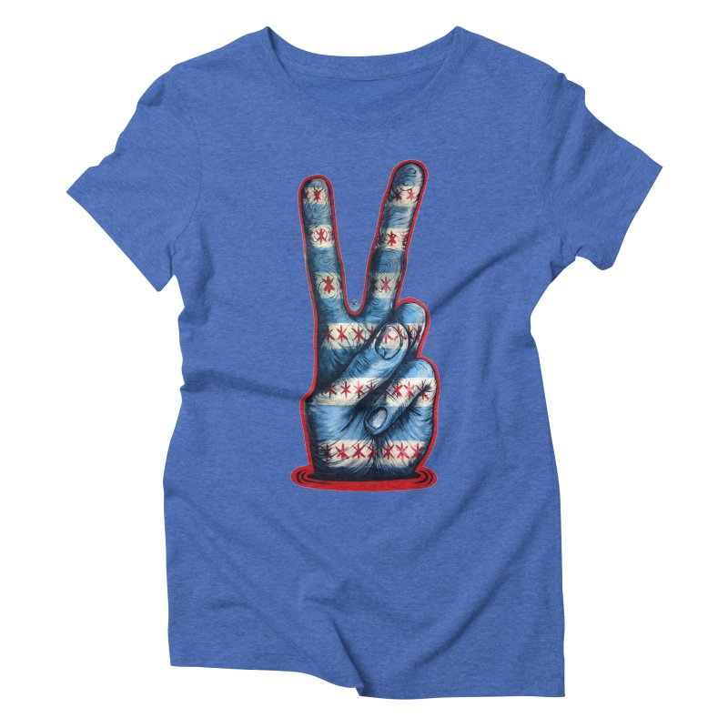 Vote for Peace Women's Triblend T-Shirt by Stiky Shop