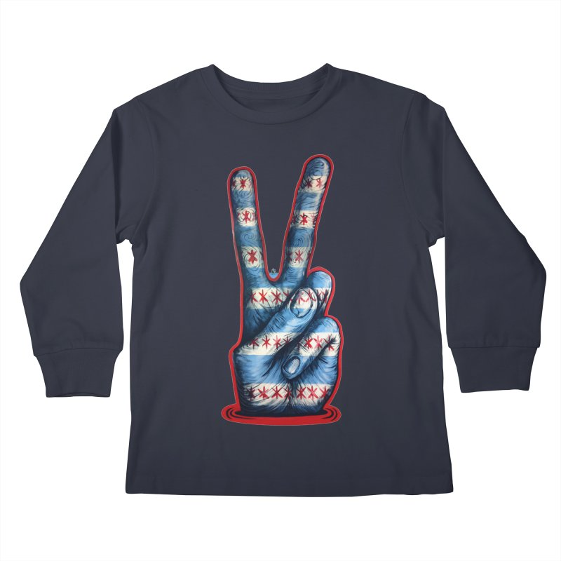 Vote for Peace Kids Longsleeve T-Shirt by Stiky Shop