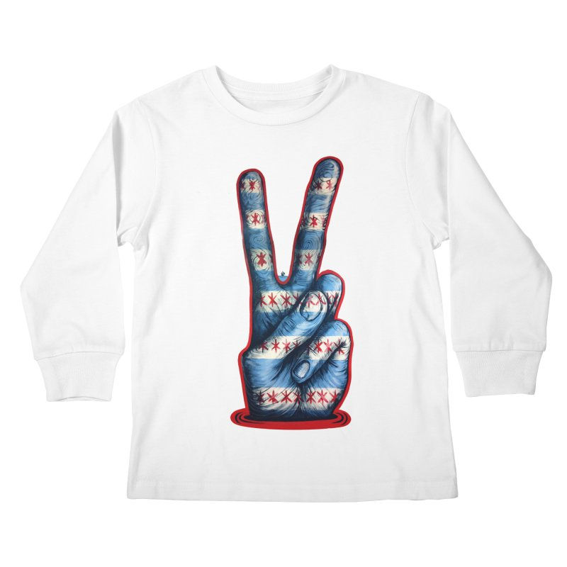 Vote for Peace Kids Longsleeve T-Shirt by IDC Art House