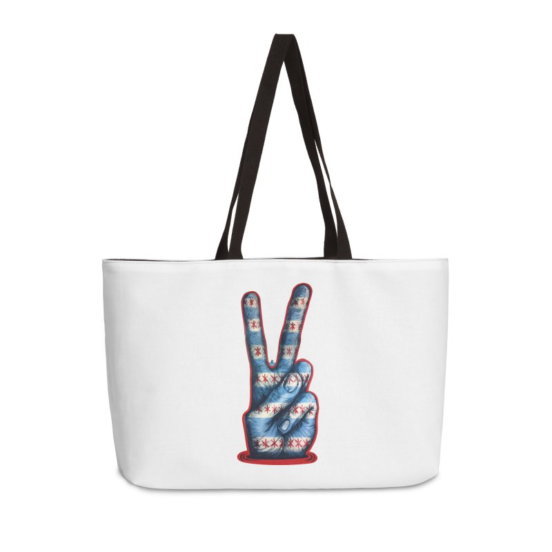 Vote for Peace Accessories Weekender Bag Bag by Stiky Shop