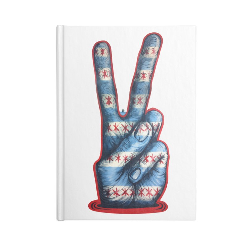 Vote for Peace Accessories Lined Journal Notebook by Stiky Shop