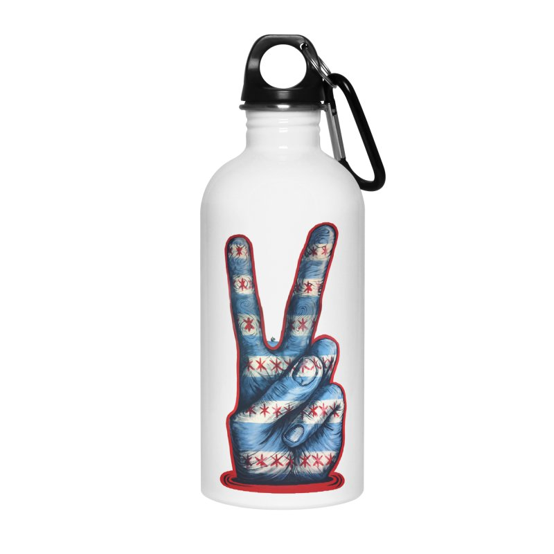 Vote for Peace Accessories Water Bottle by IDC Art House