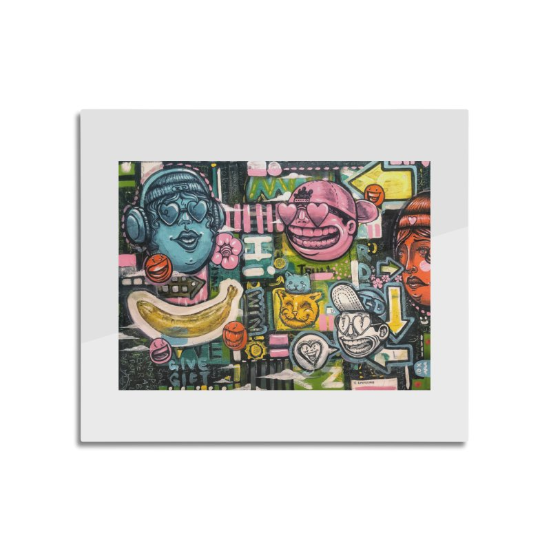 Friends forever is the truth to love Home Mounted Aluminum Print by Stiky Shop