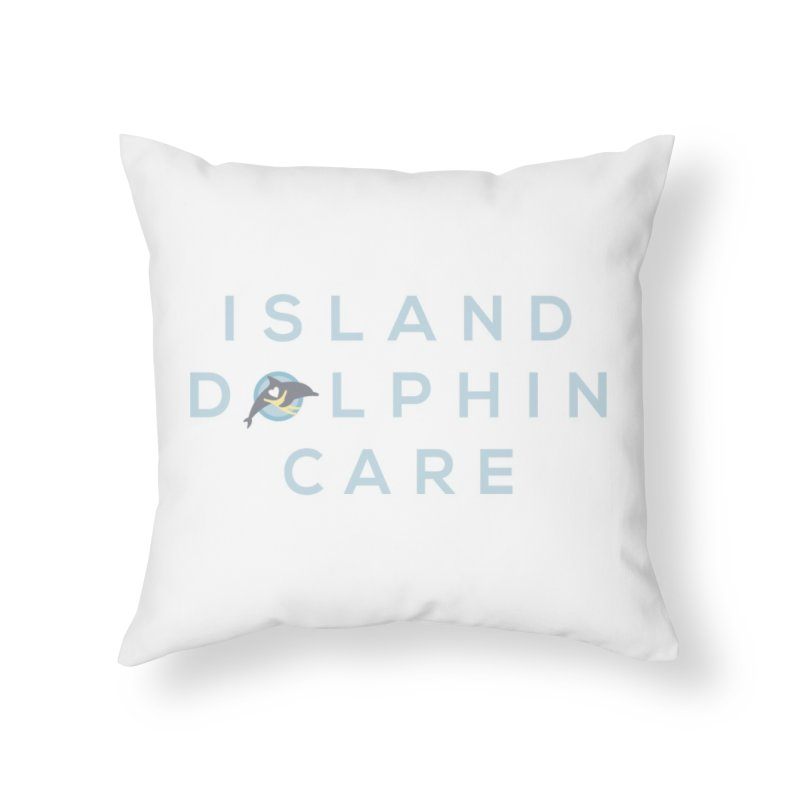 Island Dolphin Care - More Stuff Home Throw Pillow by #MaybeYouMatter