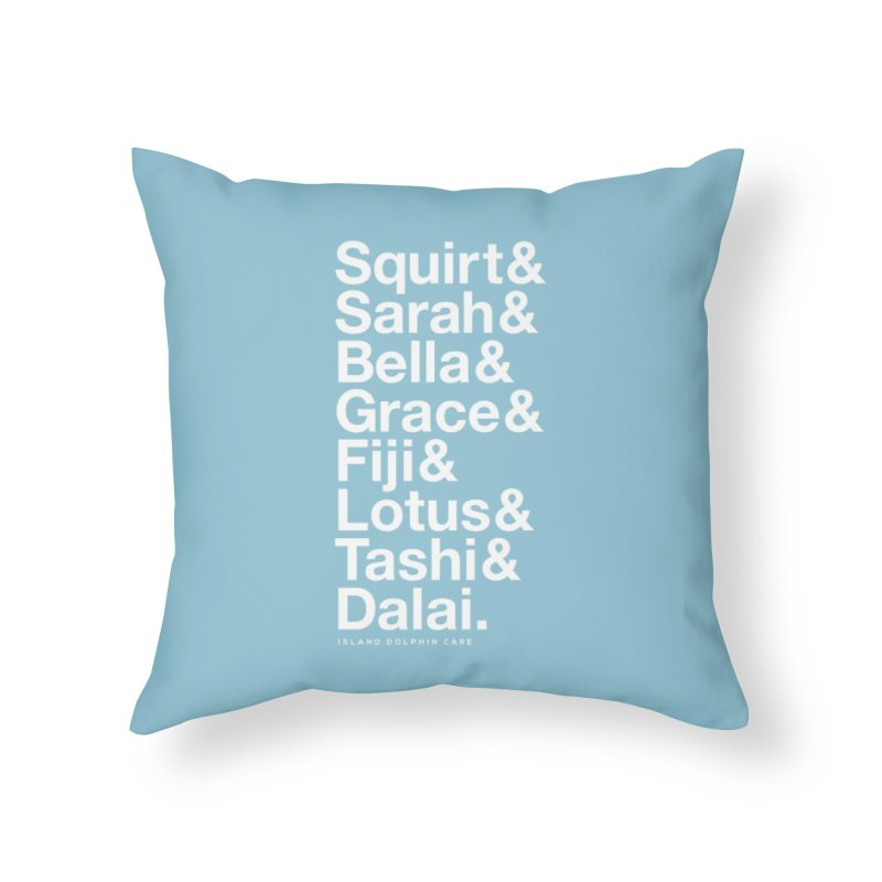 The Crew - White Font Home Throw Pillow by #MaybeYouMatter