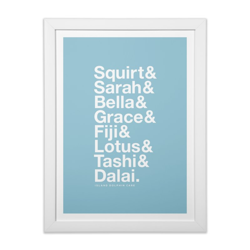 The Crew - White Font Home Framed Fine Art Print by #MaybeYouMatter