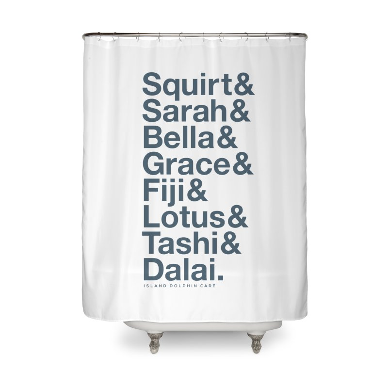 The Crew - Dark Font Home Shower Curtain by #MaybeYouMatter