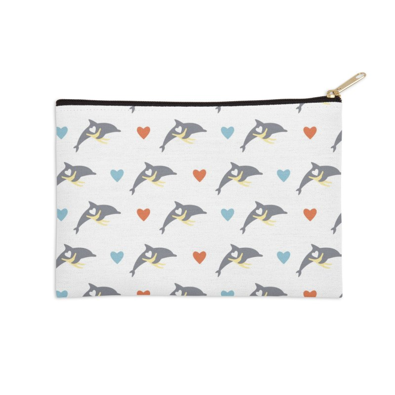 Wall of Dolphin Accessories Zip Pouch by #MaybeYouMatter