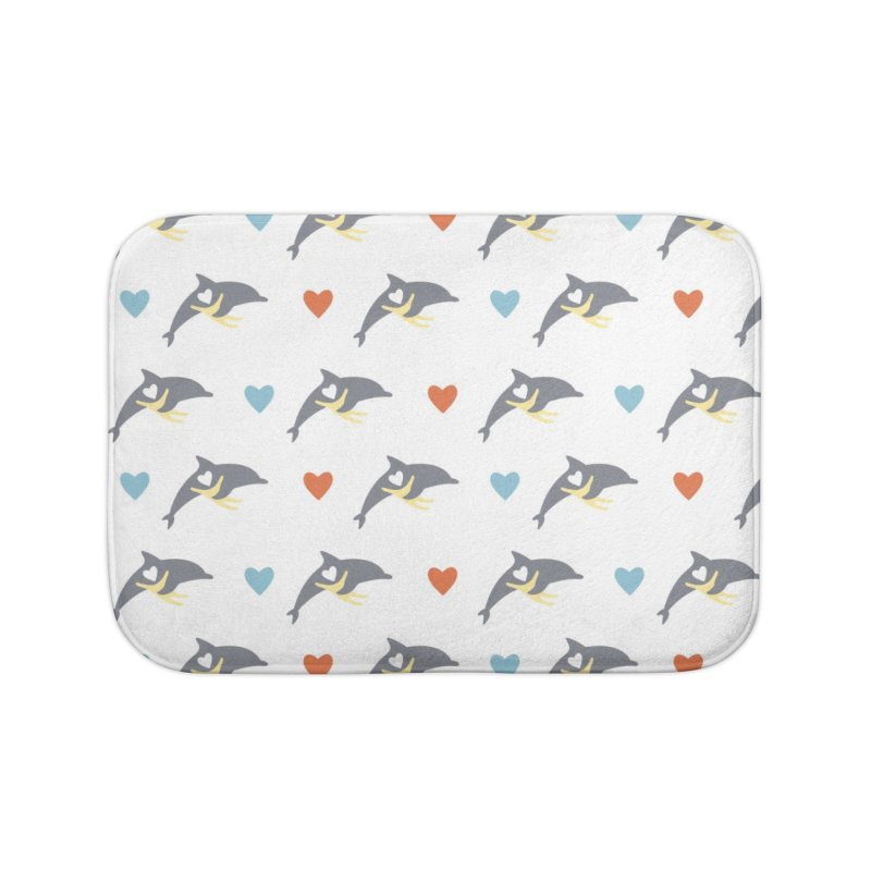 Wall of Dolphin Home Bath Mat by #MaybeYouMatter