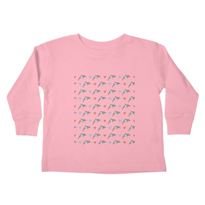 Wall of Dolphin Kids Toddler Longsleeve T-Shirt by #MaybeYouMatter