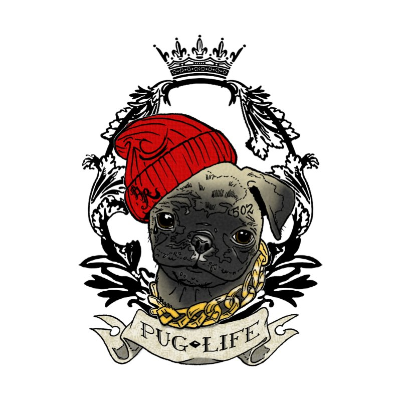 Pug Life Accessories Face Mask by Inkslinger Erick Designs