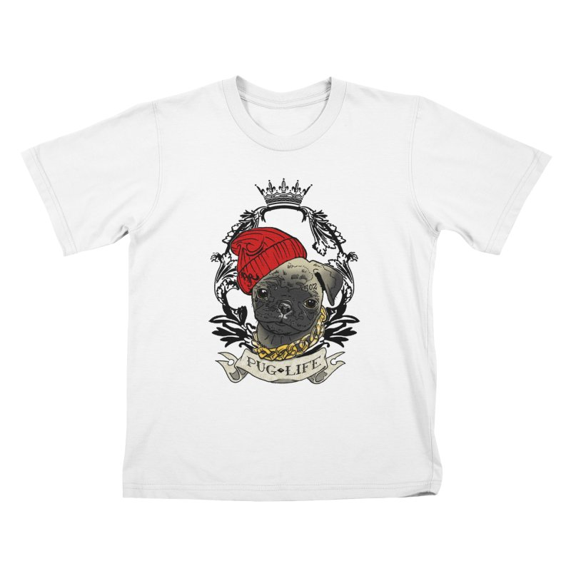 Pug Life Kids T-Shirt by Inkslinger Erick Designs