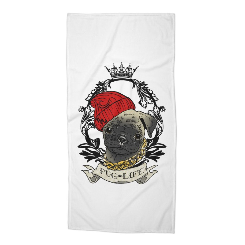 Pug Life Accessories Beach Towel by Inkslinger Erick Designs