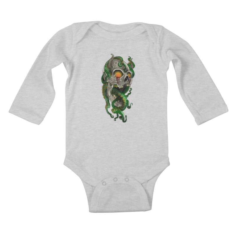 From the Inky Depths Kids Baby Longsleeve Bodysuit by Inkslinger Erick Designs