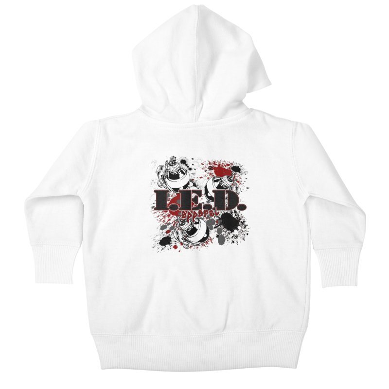 Ink Bombs Away! Kids Baby Zip-Up Hoody by Inkslinger Erick Designs