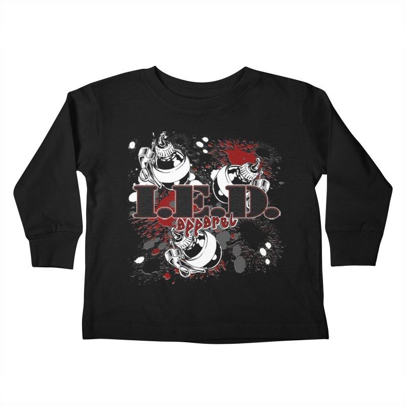 Ink Bombs Away! Kids Toddler Longsleeve T-Shirt by Inkslinger Erick Designs
