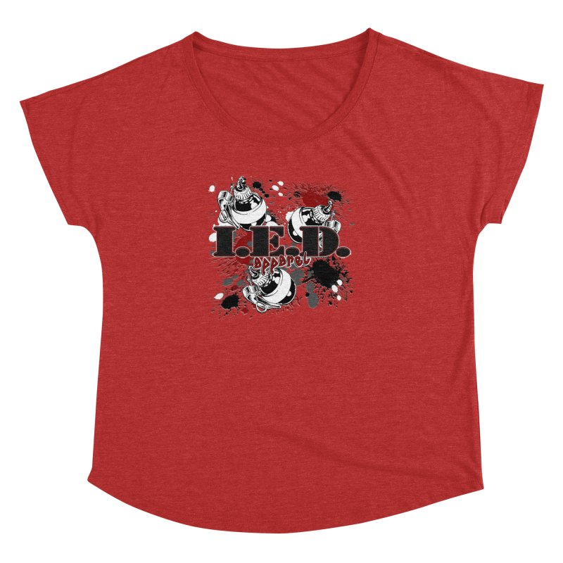 Ink Bombs Away! Women's Dolman Scoop Neck by Inkslinger Erick Designs