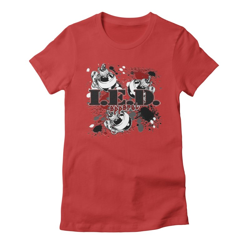 Ink Bombs Away! Women's Fitted T-Shirt by Inkslinger Erick Designs