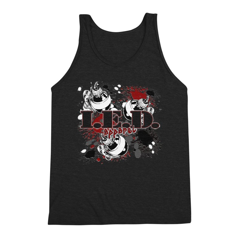 Ink Bombs Away! Men's Triblend Tank by Inkslinger Erick Designs