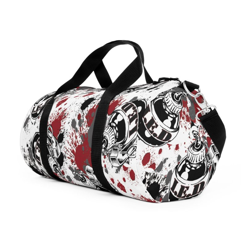 Falling Ink Bombs Accessories Duffel Bag Bag by Inkslinger Erick Designs