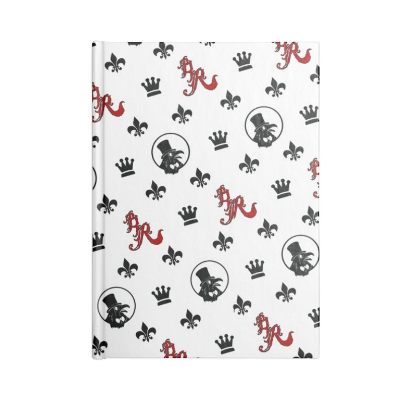 Designer Ravenite Gear Accessories Lined Journal Notebook by Inkslinger Erick Designs