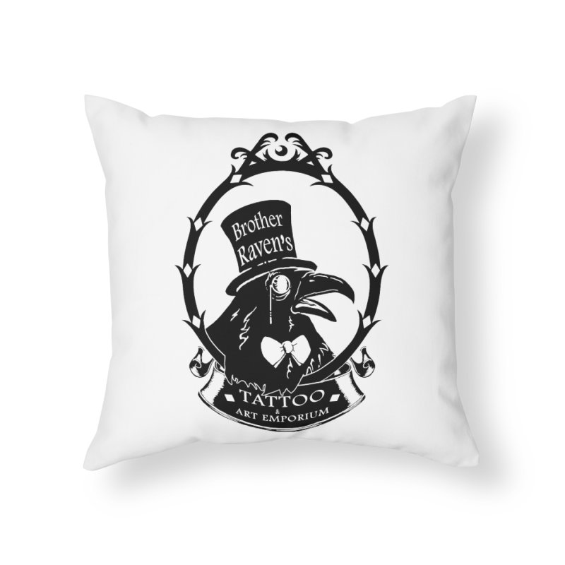 Ravenite Gear Home Throw Pillow by Inkslinger Erick Designs