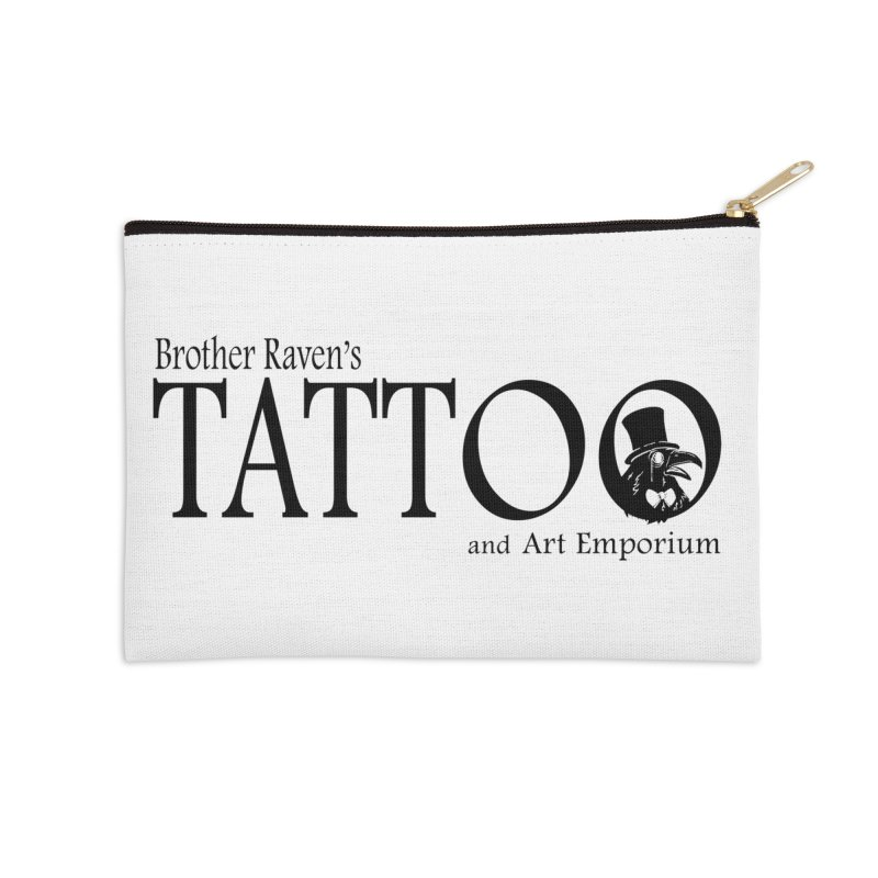Brother Raven's Logo Gear - Light Accessories Zip Pouch by Inkslinger Erick Designs