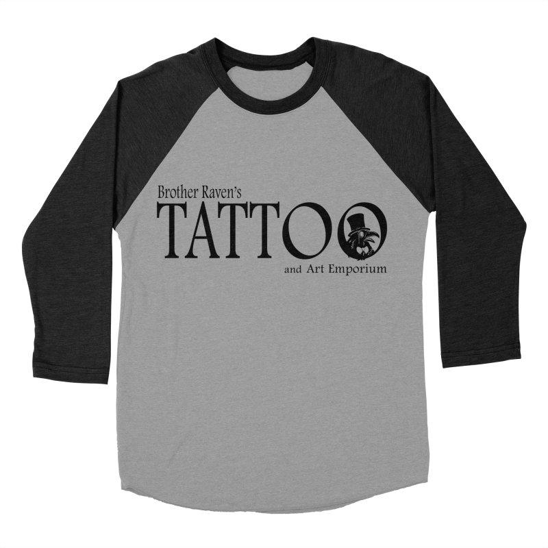 Brother Raven's Logo Gear - Light Women's Baseball Triblend Longsleeve T-Shirt by Inkslinger Erick Designs