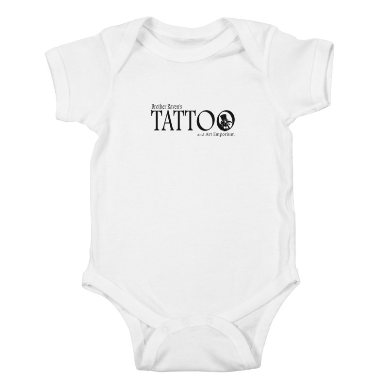 Brother Raven's Logo Gear - Light Kids Baby Bodysuit by Inkslinger Erick Designs