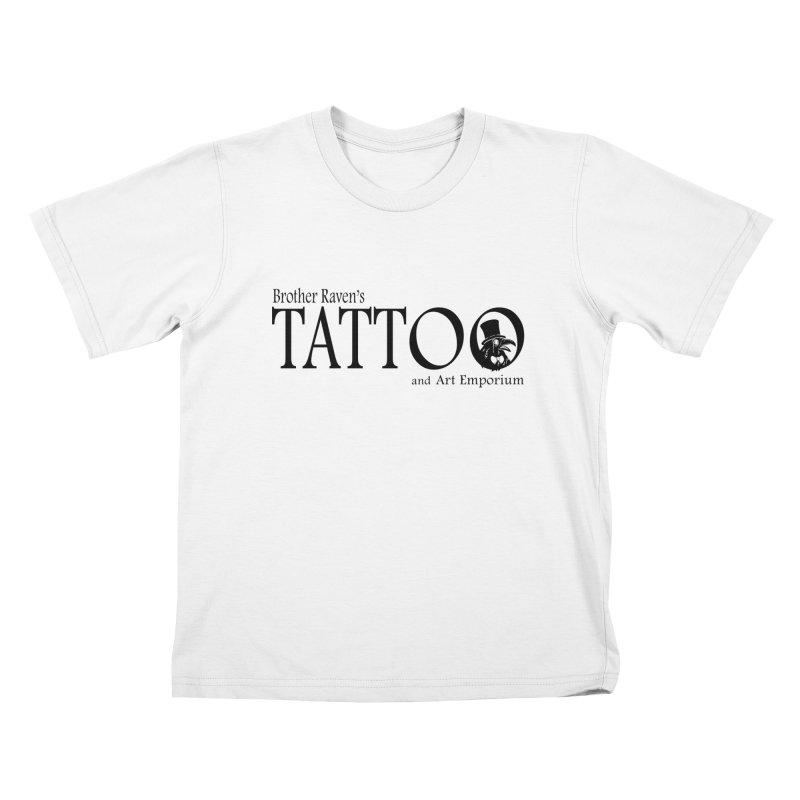 Brother Raven's Logo Gear - Light Kids T-Shirt by Inkslinger Erick Designs