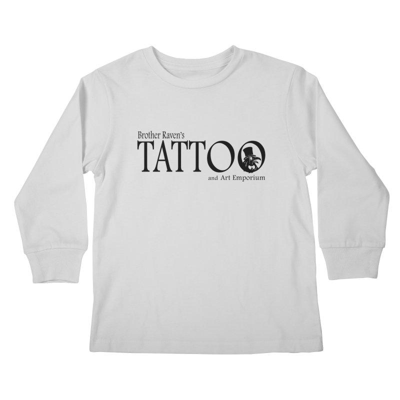 Brother Raven's Logo Gear - Light Kids Longsleeve T-Shirt by Inkslinger Erick Designs