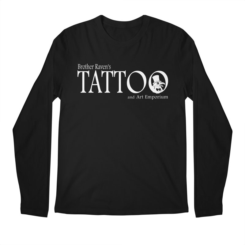 Brother Raven's Logo Gear - Dark Men's Regular Longsleeve T-Shirt by Inkslinger Erick Designs